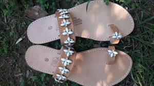 Luxury sandals white